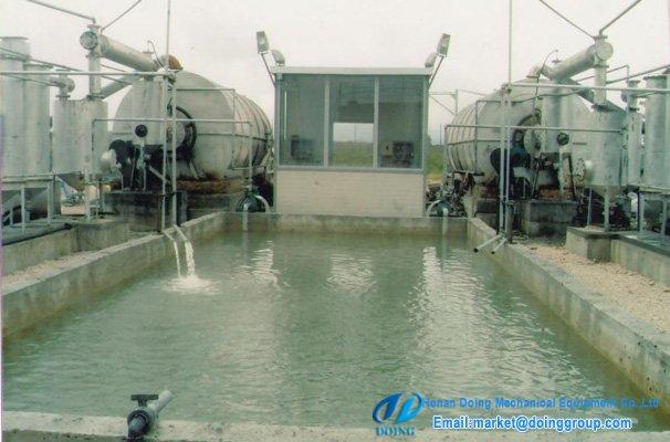Albania customer running 2sets pyrolysis plant