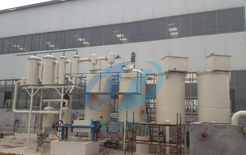 Crude oil distillation process machine