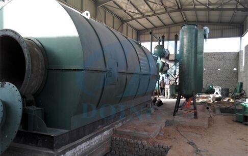 Waste tyre pyrolysis plant in Egypt Installation