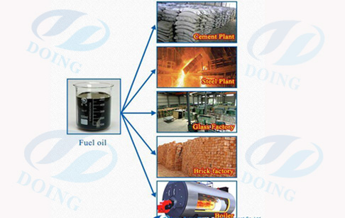 High oil recover waste tyre pyrolysis to oil plant