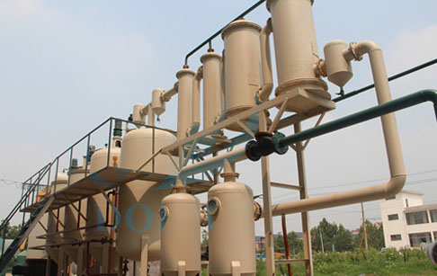 Waste oil distillation plant to diesel