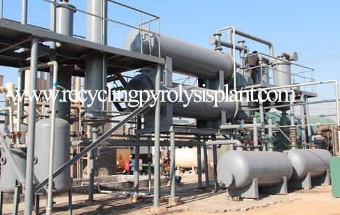 Waste oil to diesel conversion plant