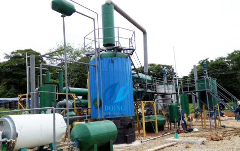 Waste tyre oil to diesel fuel distillation plant in Columbia