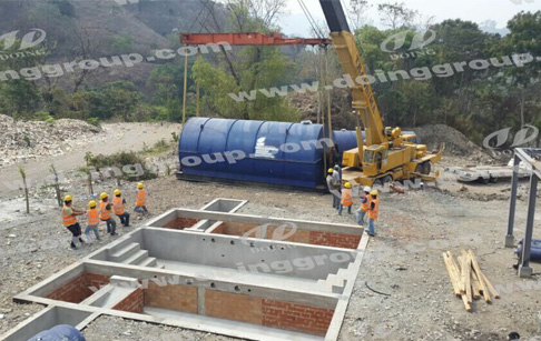 Waste tyre pyrolysis machine installation in Guatemala