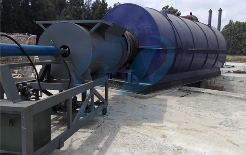Waste tyre pyrolysis plant  installation in Lebanon
