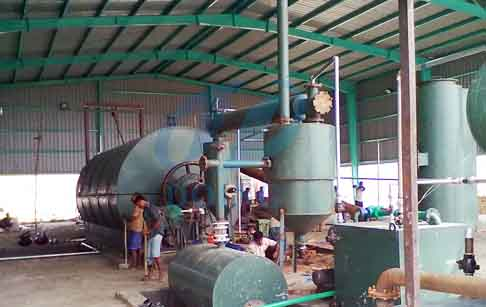 Waste tyre/plastic to oil pyrolysis plant project in Bangladesh