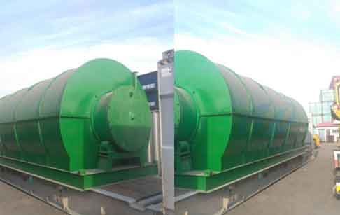Chile waste tire pyrolysis plant and distillation plant finished delivery