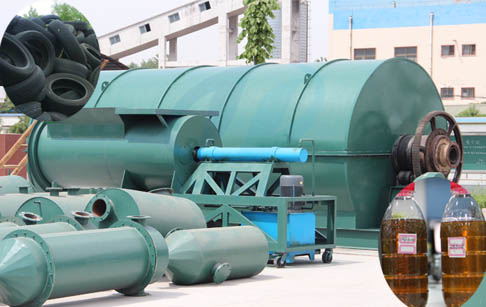 Waste tyre recycling pyrolysis plant for sale