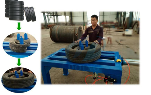 Tire doubling tripling packing machine doubling tire running video