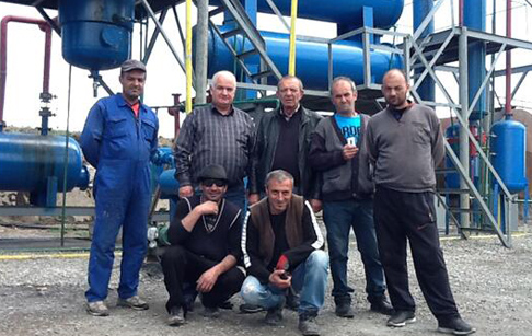 Georgia customer buy waste tyre recycling pyrolysis plant from Doing company