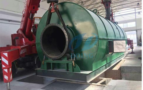 Italy successful installed waste tyre pyrolysis plant