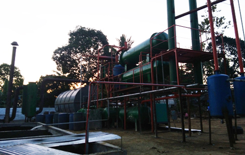 10T/D waste tyre pyrolysis plant successful installed in Philippines