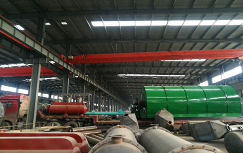 One set 12T pyrolysis plant transported to Yunan,China yesterday