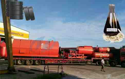 What kind of waste tire pyrolysis plant is legal?