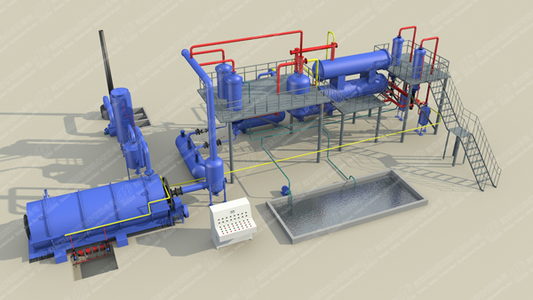 DOING 3D pyrolysis plant