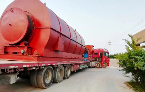 10T/D waste plastic to diesel plant transported to Colombia