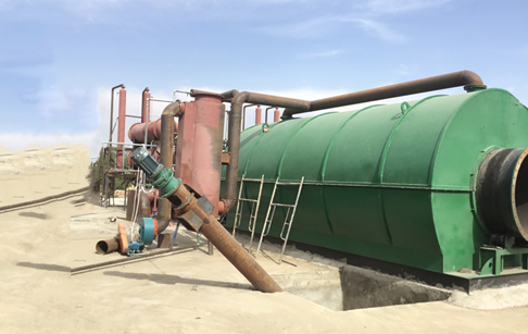 2 sets 12T/D waste tyre to oil pyrolysis plant successful running in Kyrgyzstan
