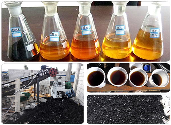 plastic pyrolysis plant final products