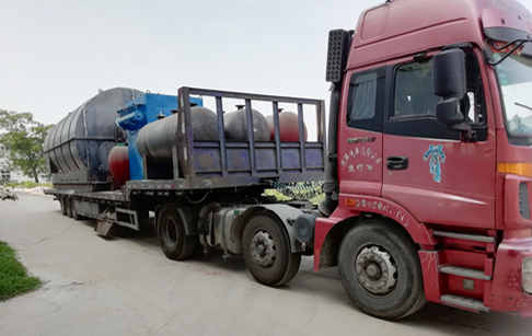 Hunan,China customer's another 2 sets of 12T tyre pyrolysis plant was delivered