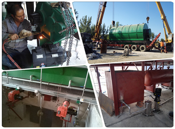 tyre to oil pyrolysis plant China