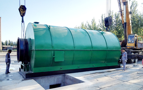 2 sets 12T/D used tyre to oil pyrolysis plant finished installation in Hebei, China