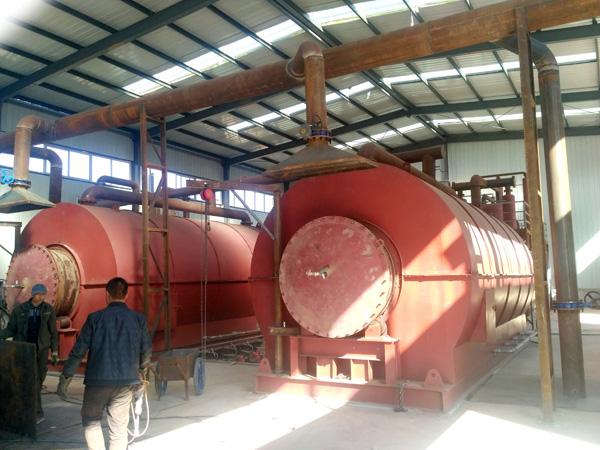 waste tyre pyrolysis plant China