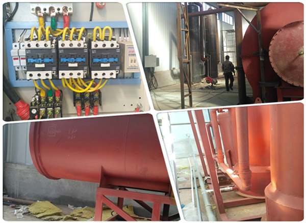 waste tyre pyrolysis plant parts