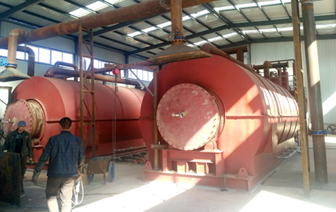 Congratulations to Inner Mongolia customer's 2 sets waste tyre pyrolysis plant finished installation