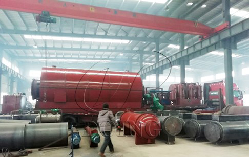 One set 12T/D old tyres recycling pyrolysis plant delivered to Shandong, China
