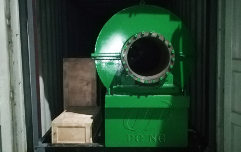 One set 500kg small unit of waste tyre recycling pyrolysis plant be sent to Switzerland