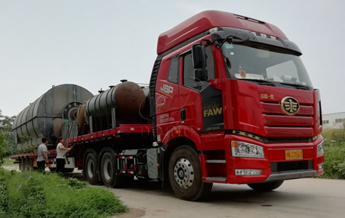 Two sets 12T waste plastic to oil plant of customers in Guangdong, China have been delivered