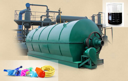 Pyrolysis of plastic to fuel oil machine