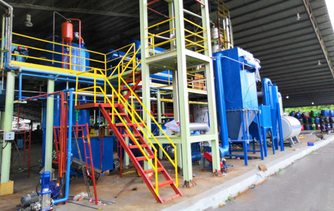 One set 5T waste oil recycling to diesel plant installed in Malaysia