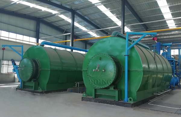 waste tyre pyrolysis to oil plant