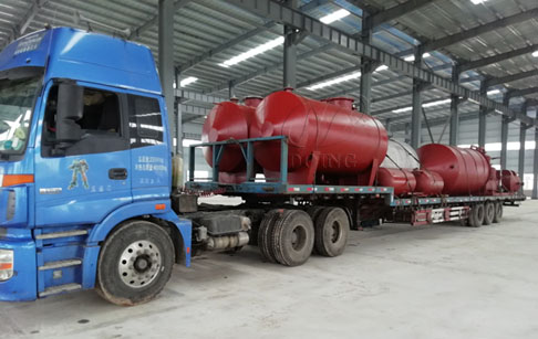 One set 10T waste oil distillation machine was delivered to Nigeria