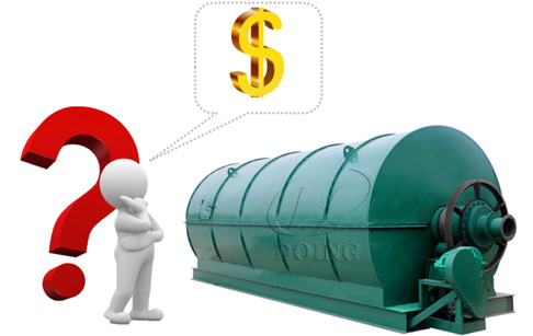 How much does a waste tyre pyrolysis plant cost?
