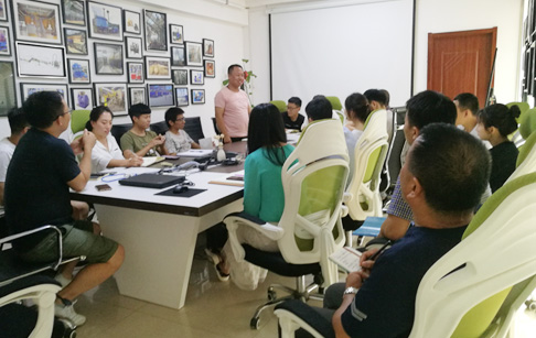 DOING Company held an exchange meeting to improve factory and better serve customers
