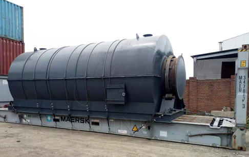 One set 10T waste tyre pyrolysis to oil plant was sent to Malaysia