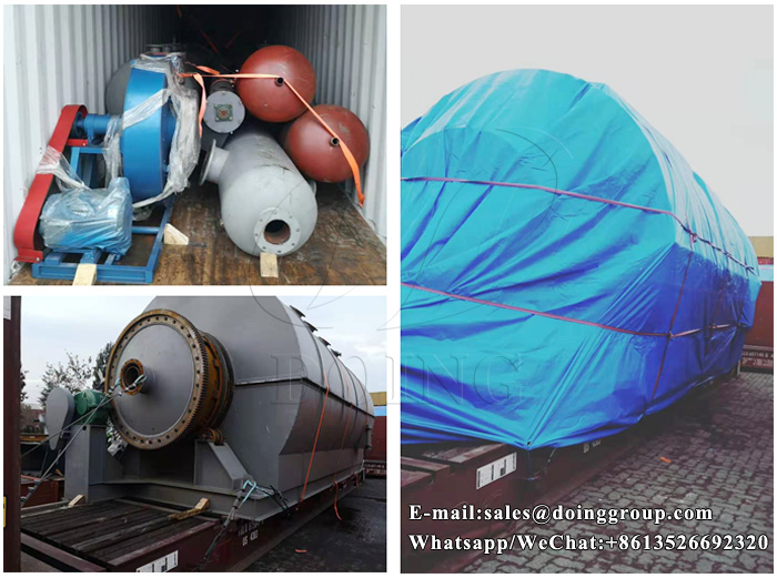 plastic recycling to oil machine
