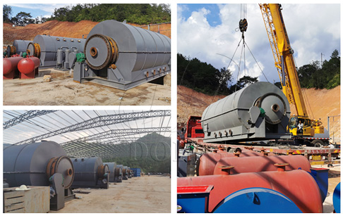 Six sets 12T waste tire pyrolysis to oil plant project in Fujian, China