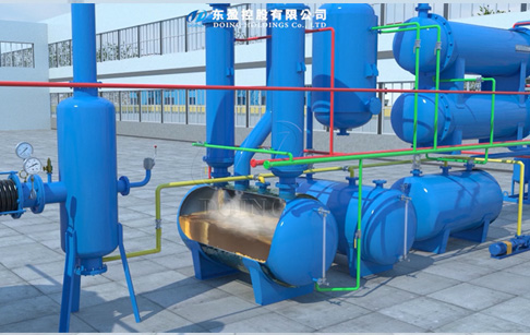 The workflow video of newly upgraded waste tyre recycling pyrolysis plant