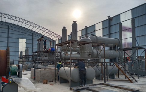 8 sets 12T tyre recycling pyrolysis plant were installed in Shanxi, China