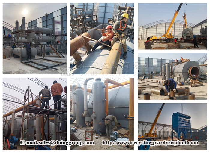 tyre recycling pryolysis plant