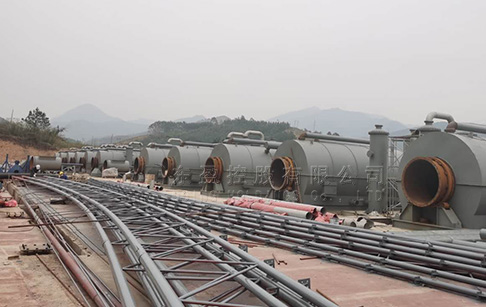 12 sets 12TPD tyre to fuel recycling plant project in Guangxi, China