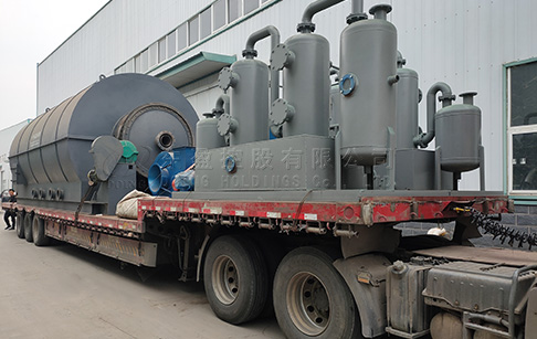 6 sets 12TPD scrap tyre pyrolysis machine were delivered to Yunnan, China
