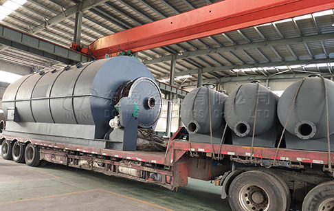 12TPD waste plastic recycling pyrolysis plant was sent to India