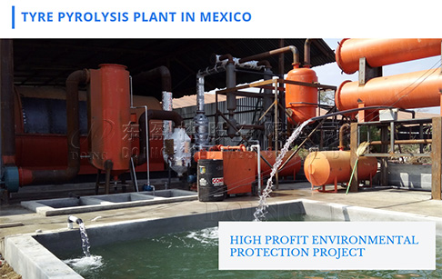 Waste tyre to fuel oil pyrolysis plant project in Mexico