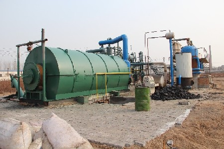 Waste plstic to oil plant
