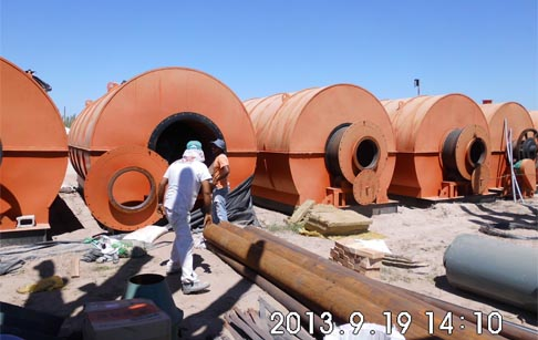 Waste tyre recycling plant saled to Mexico in 2013