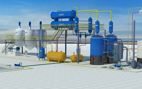 Tire oil to diesel refining machine